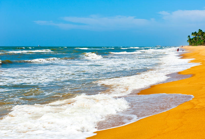 L'océan, Sri Lanka image stock