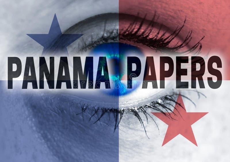 L'occhio delle carte del Panama esamina il concetto dello spettatore immagini stock libere da diritti