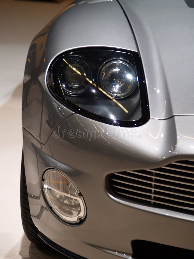 L'occhio di Aston Martin fotografia stock