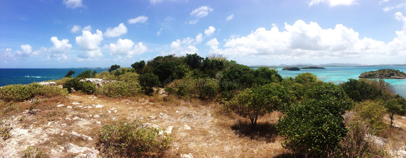 L'Oceano Atlantico incontra il mar dei Caraibi fotografia stock libera da diritti