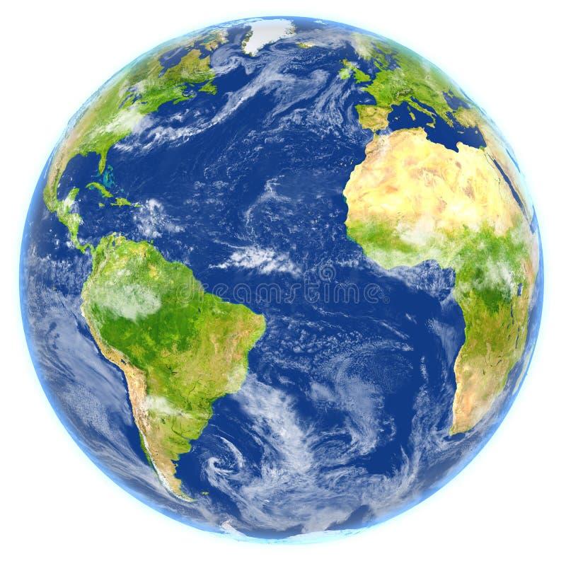 L'Oceano Atlantico su pianeta Terra royalty illustrazione gratis