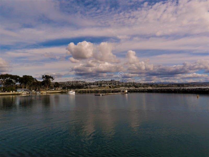 L'oceano e la bella spiaggia in Dana Point CA, U.S.A. fotografia stock