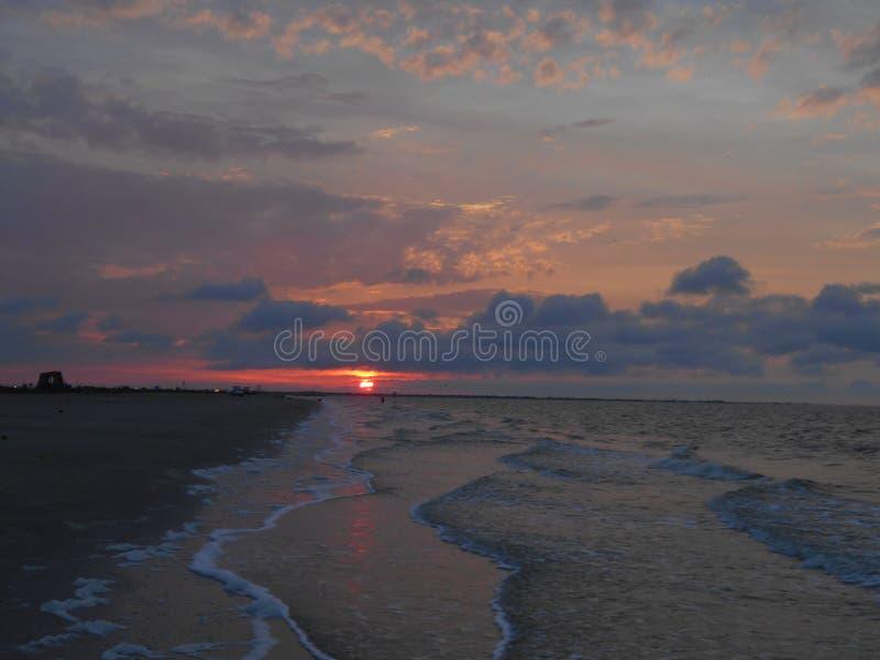 L'oceano Sunset fotografia stock