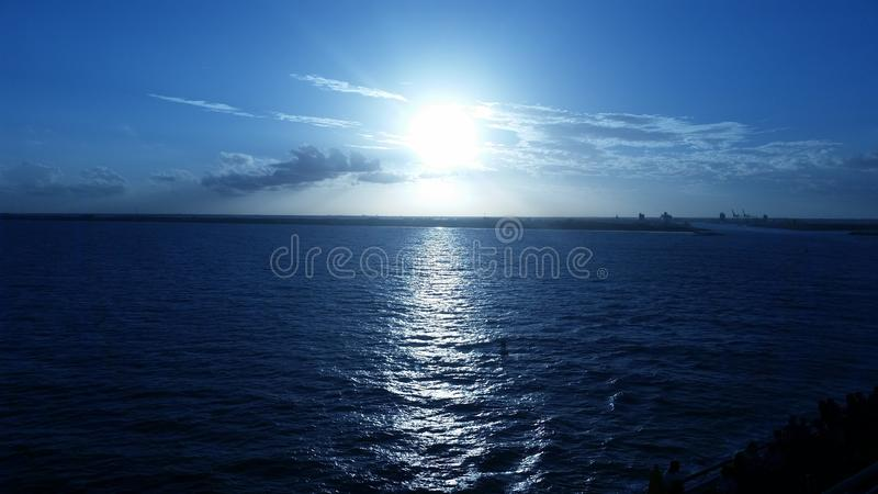 L'oceano Sunset fotografie stock