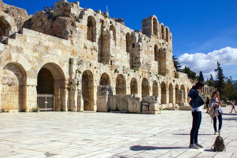 L'Odeon de l'Atticus de Herodes, Athènes, Grèce images stock