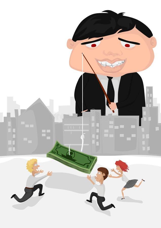 L'odeur aiment l'argent illustration stock