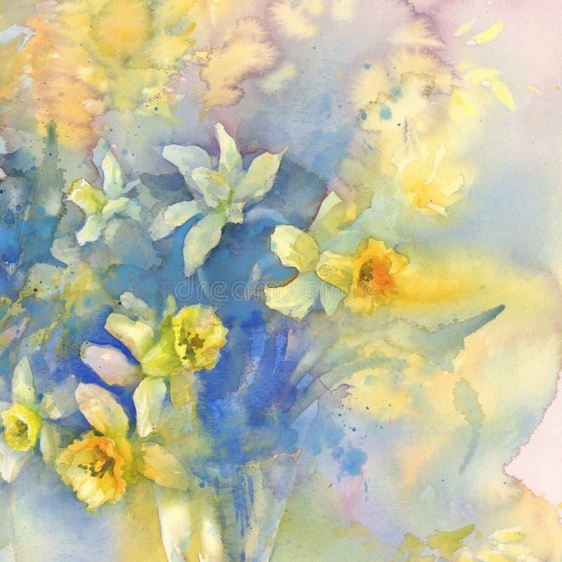 L'odore dell'acquerello della primavera illustrazione di stock