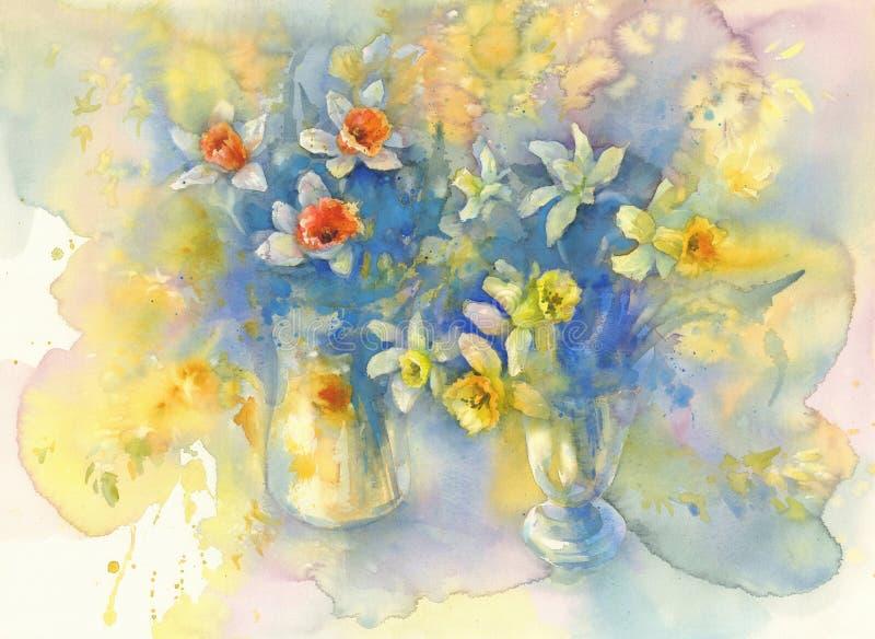 L'odore dell'acquerello della primavera royalty illustrazione gratis
