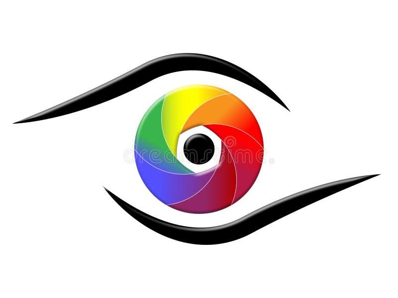 L'oeil de spectre montre le fond coloré et chromatique illustration stock