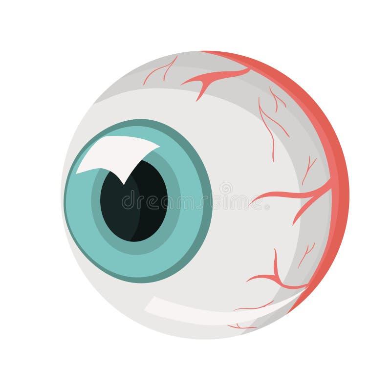 L'oeil humain Une partie du corps humain Isolat sur le fond blanc Descripteur de vecteur illustration stock