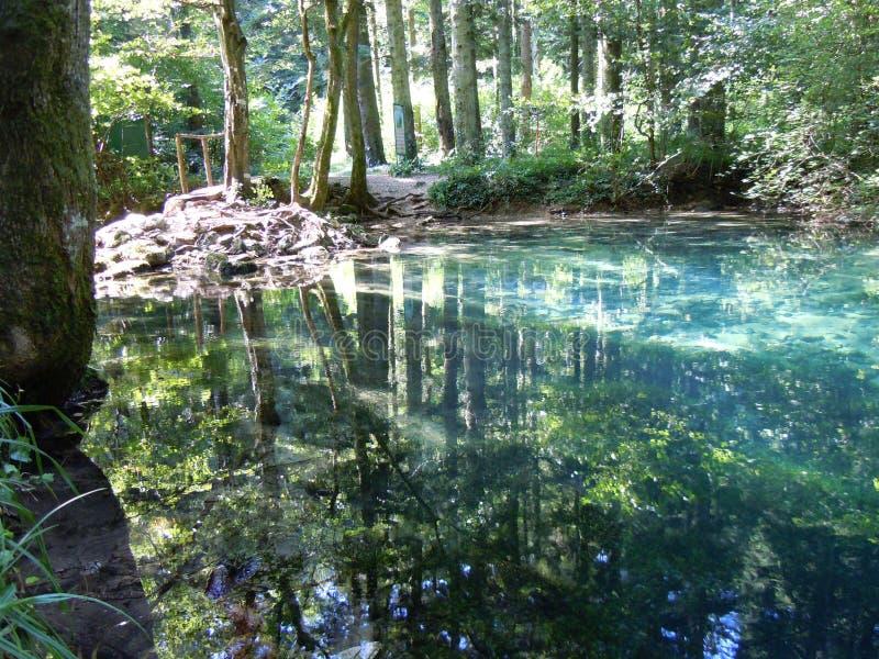 L'oeil un de Beiu naturel de lac des endroits les plus beaux images stock