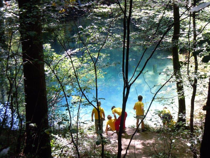 L'oeil un de Beiu naturel de lac des endroits les plus beaux photos libres de droits