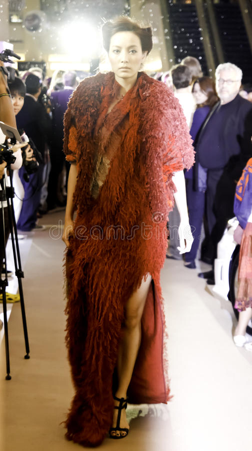 L'Officiel fashion show royalty free stock image