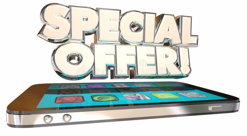 L'offre spéciale sauvent plan d'affaire futée de téléphone de cellules d'argent le meilleur illustration de vecteur