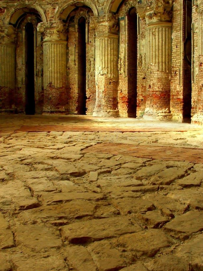l'oggetto d'antiquariato si arca chiesa all'interno immagini stock