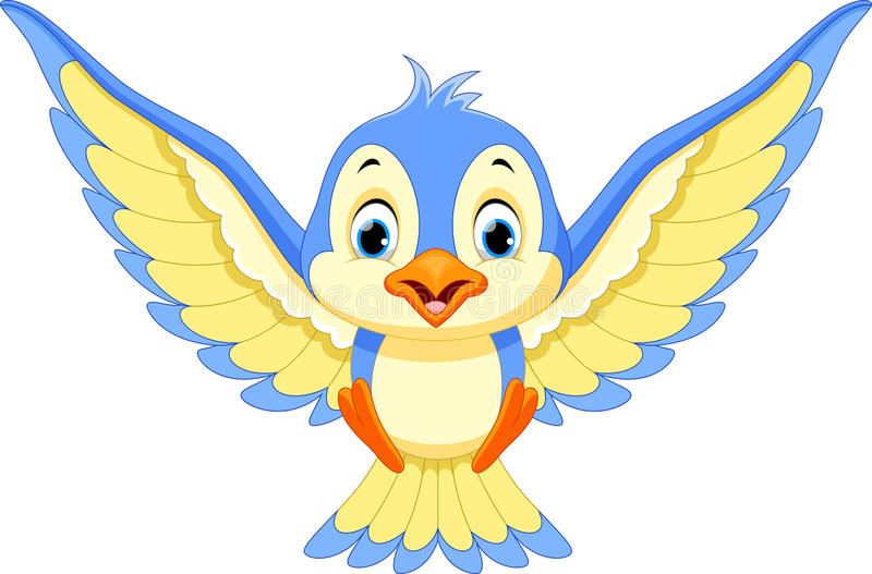 L'oiseau bleu débarquera illustration de vecteur