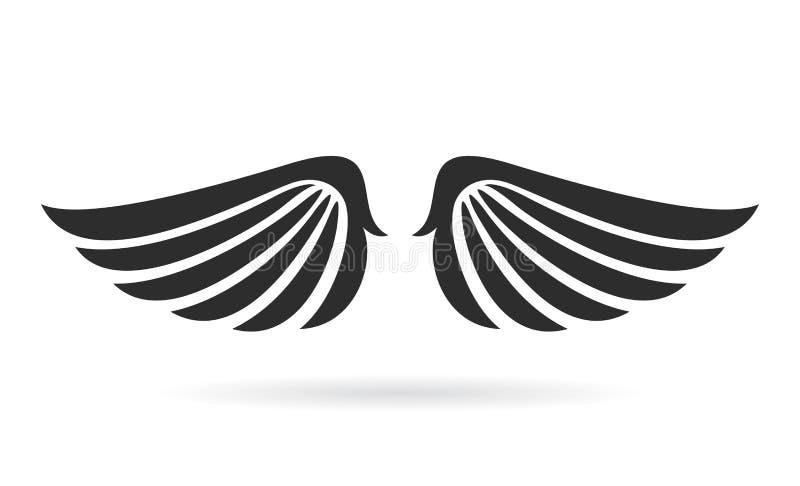 L'oiseau s'envole l'icône de vecteur illustration libre de droits