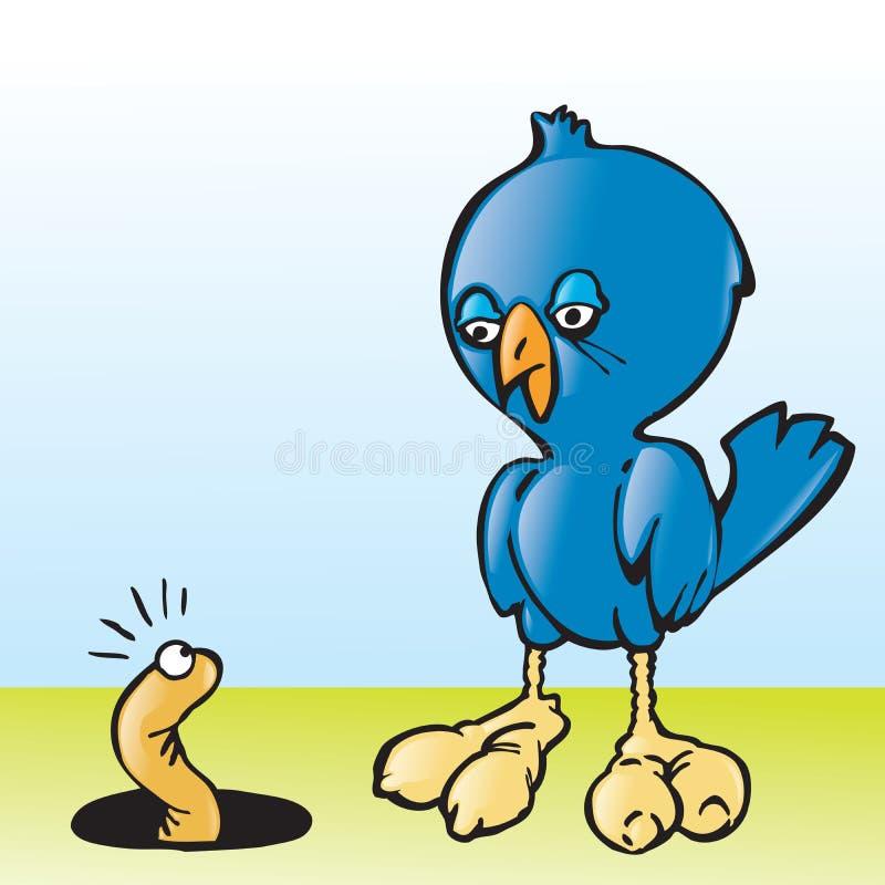 L'oiseau tôt illustration stock