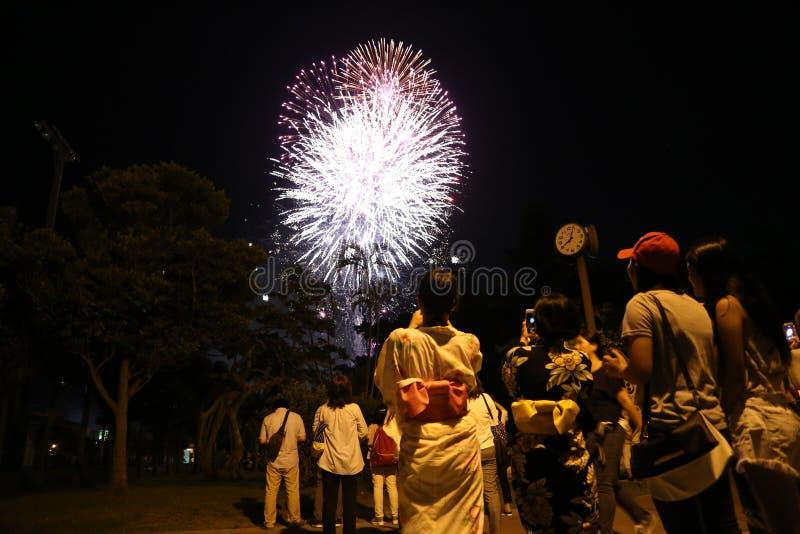 L'OKINAWA - 8 OCTOBRE : Festival de citoyen de RBC en parc d'Onoyama, l'Okinawa, Japon le 8 octobre 2016 photographie stock libre de droits