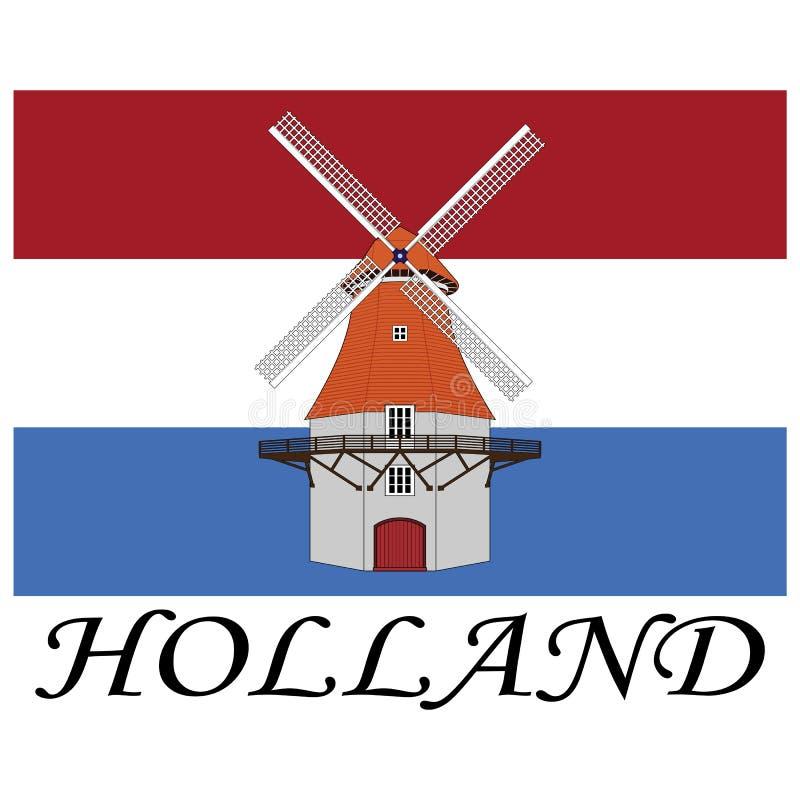 L'Olanda illustrazione vettoriale