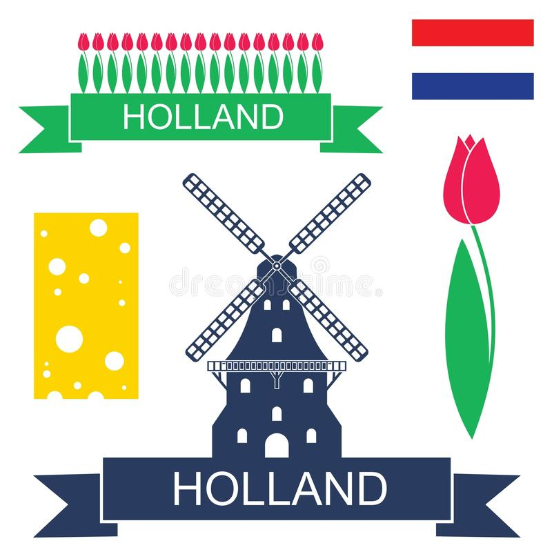 l'olanda royalty illustrazione gratis