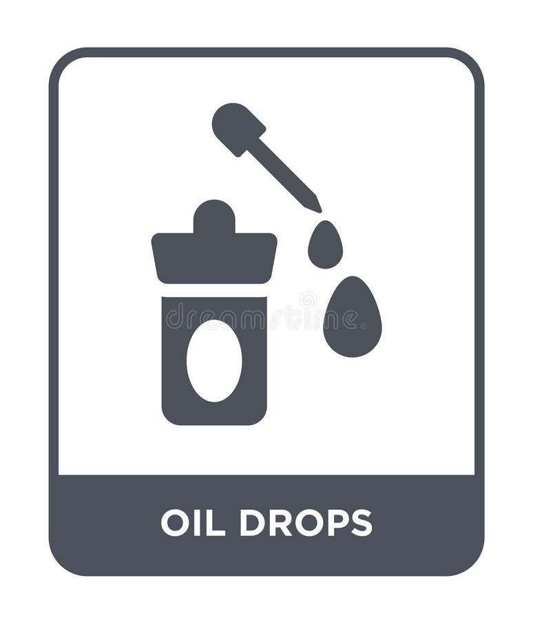 l'olio cade l'icona nello stile d'avanguardia di progettazione l'olio cade l'icona isolata su fondo bianco l'olio cade il piano s illustrazione vettoriale