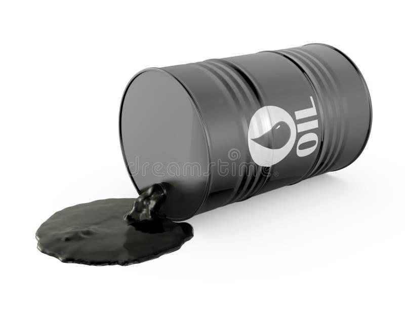 L'olio sta straripando il barilotto illustrazione vettoriale