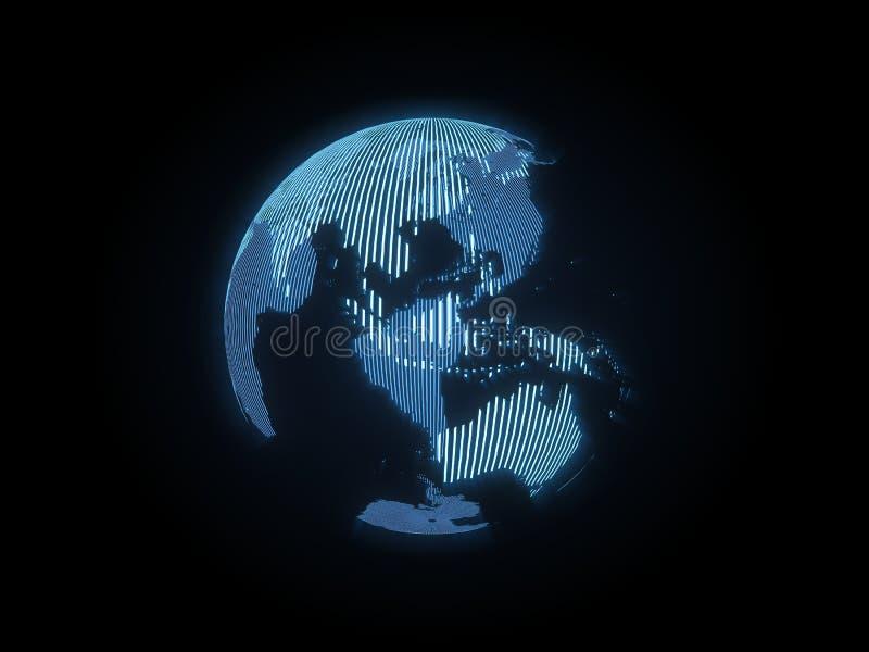 L'ologramma della terra fotografia stock libera da diritti