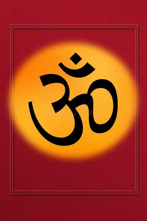L'OM/Aum - symbole d'hindouisme photo libre de droits