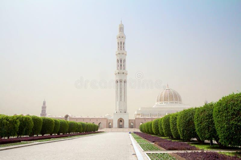 l'oman moscato Grande moschea di Sultan Qaboos immagine stock