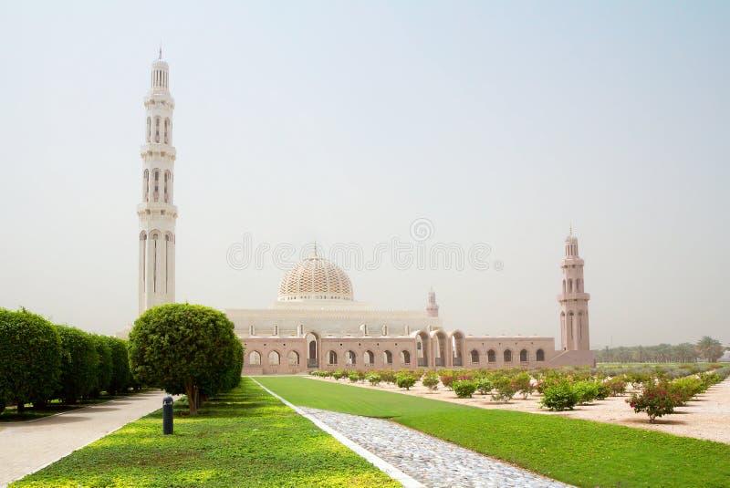 l'oman moscato Grande moschea di Sultan Qaboos fotografia stock libera da diritti