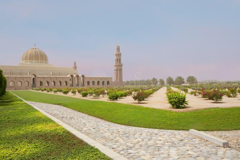 l'oman moscato Grande moschea di Sultan Qaboos immagine stock libera da diritti