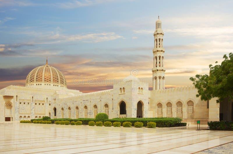 l'oman moscato Grande moschea di Sultan Qaboos fotografie stock