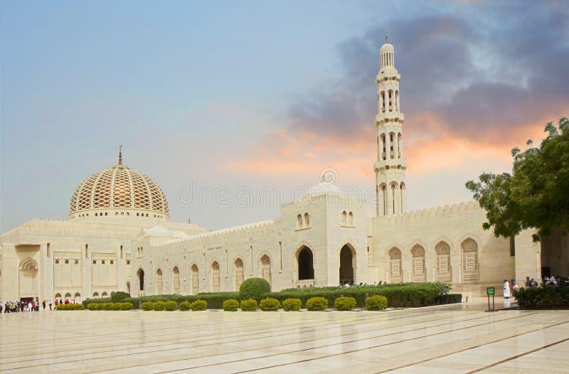 L'Oman, Sultan Qaboos Grand Mosque in Muscat fotografia stock