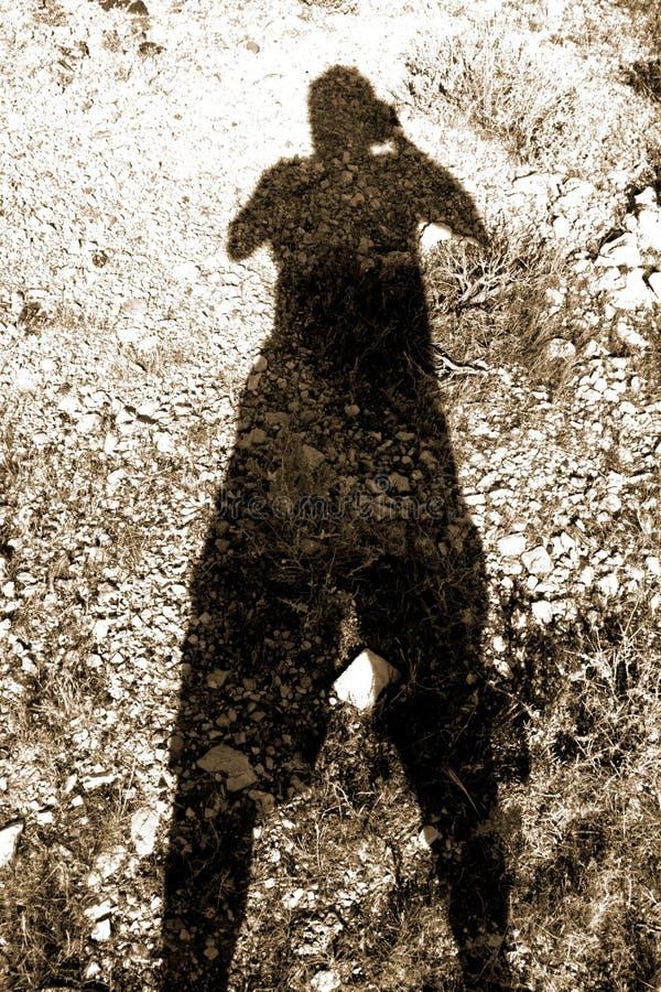 L'ombre du photographe image libre de droits