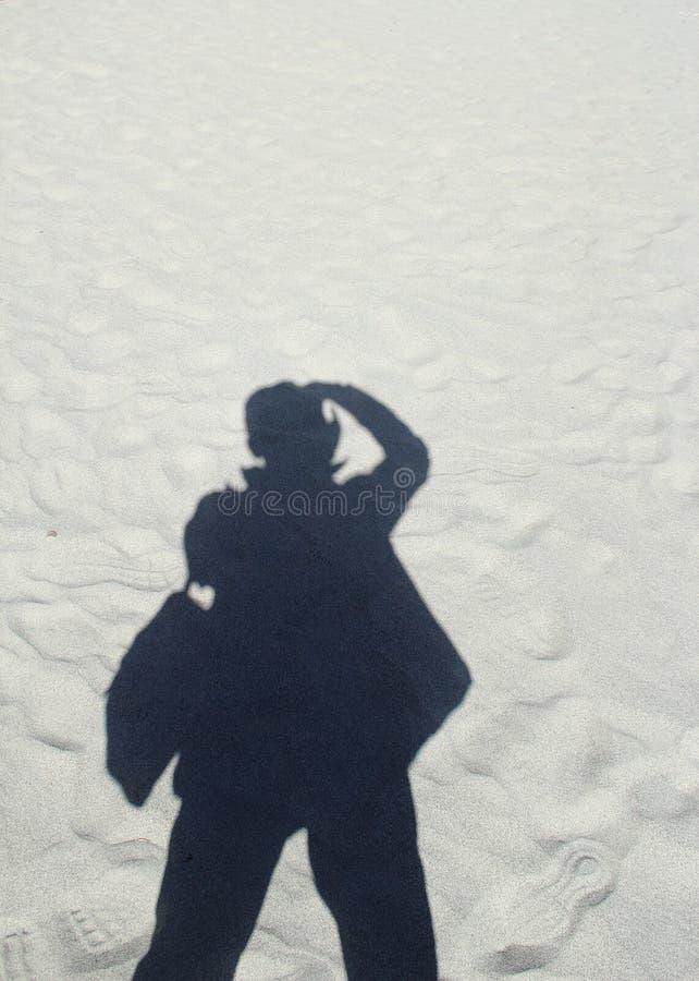 L'ombre du photographe photographie stock libre de droits
