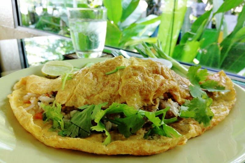 L'omelette est un aliment il est facile faire que image stock