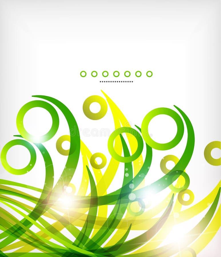 L'onda astratta verde di eco turbina con le luci royalty illustrazione gratis