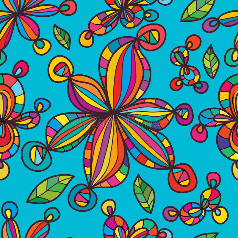 L'onda del fiore porta a palla il modello senza cuciture illustrazione di stock