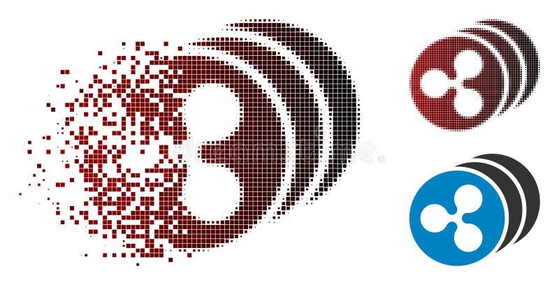 L'ondulation tramée dispersée de pixel invente l'icône illustration stock