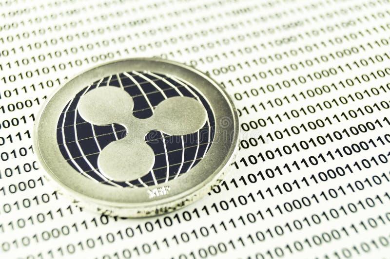 L'ondulazione è un modo moderno dello scambio e di questa valuta cripto immagini stock