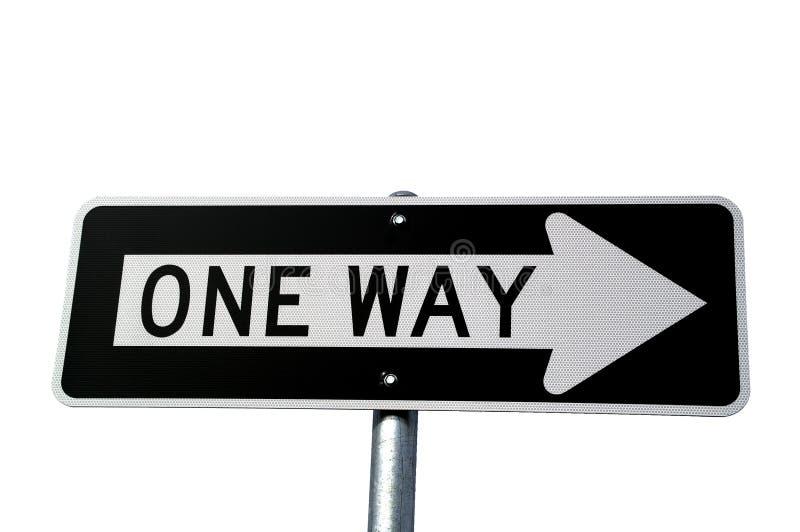 L'one-way se connectent le blanc photos libres de droits