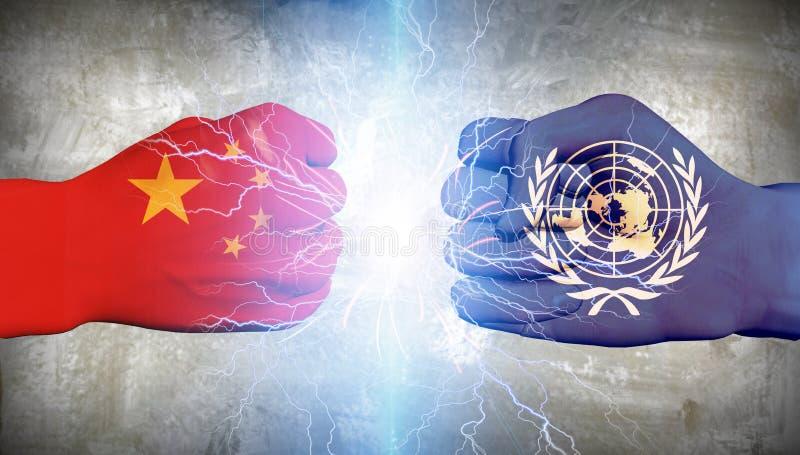L'ONU contre la Chine illustration de vecteur