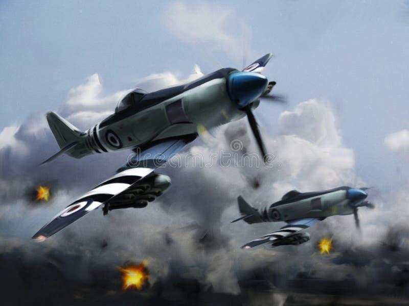 L'ONU d'avions (fureur de mer de colporteur) photographie stock libre de droits