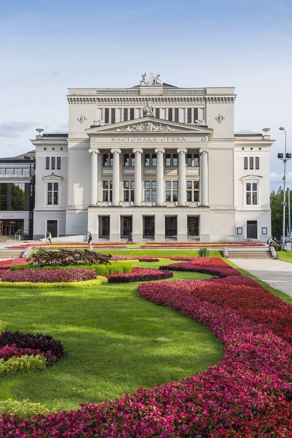 L'opéra national letton Riga images libres de droits