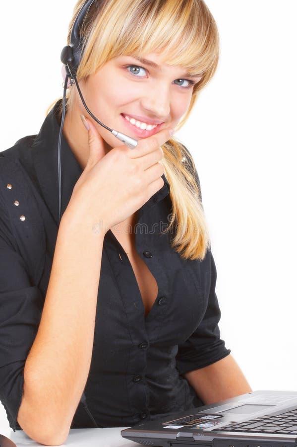 L'opératrice de fille images stock
