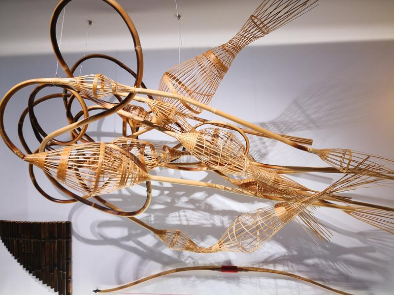 L'opera d'arte ha fatto da bambù immagine stock libera da diritti