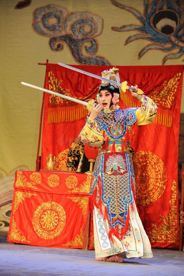 L'opera diballo-Pechino della spada: Addio al mio concubine fotografia stock