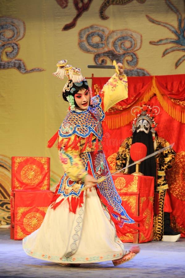 L'opera diballo-Pechino della spada: Addio al mio concubine immagini stock libere da diritti