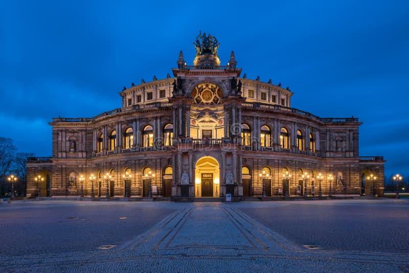 L'opera a Dresda fotografia stock libera da diritti